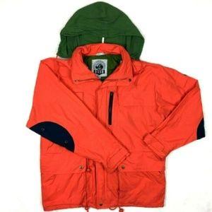 Vintage Windbreaker Jacket Hood Hiking Full Zip